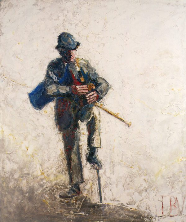 """""""A Travelling Piper at the Crossroads"""" JB Vallely   print   $260"""