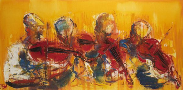"""""""The Four Red Fiddles"""" JB Vallely 